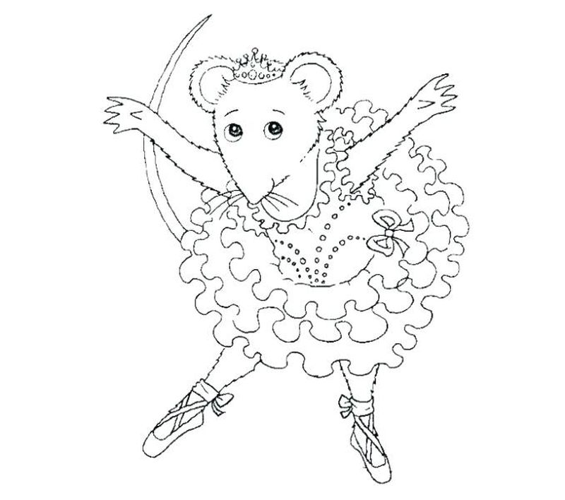 Ballerina Coloring Pages For Free
