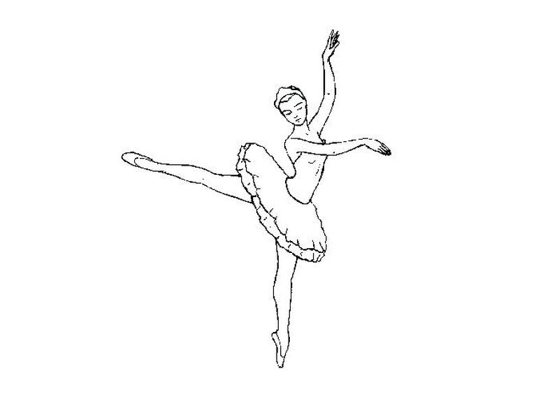 Ballerina Coloring Pages For Girls