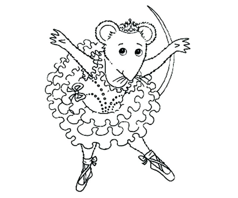 Ballerina Coloring Pages For Kids To Print