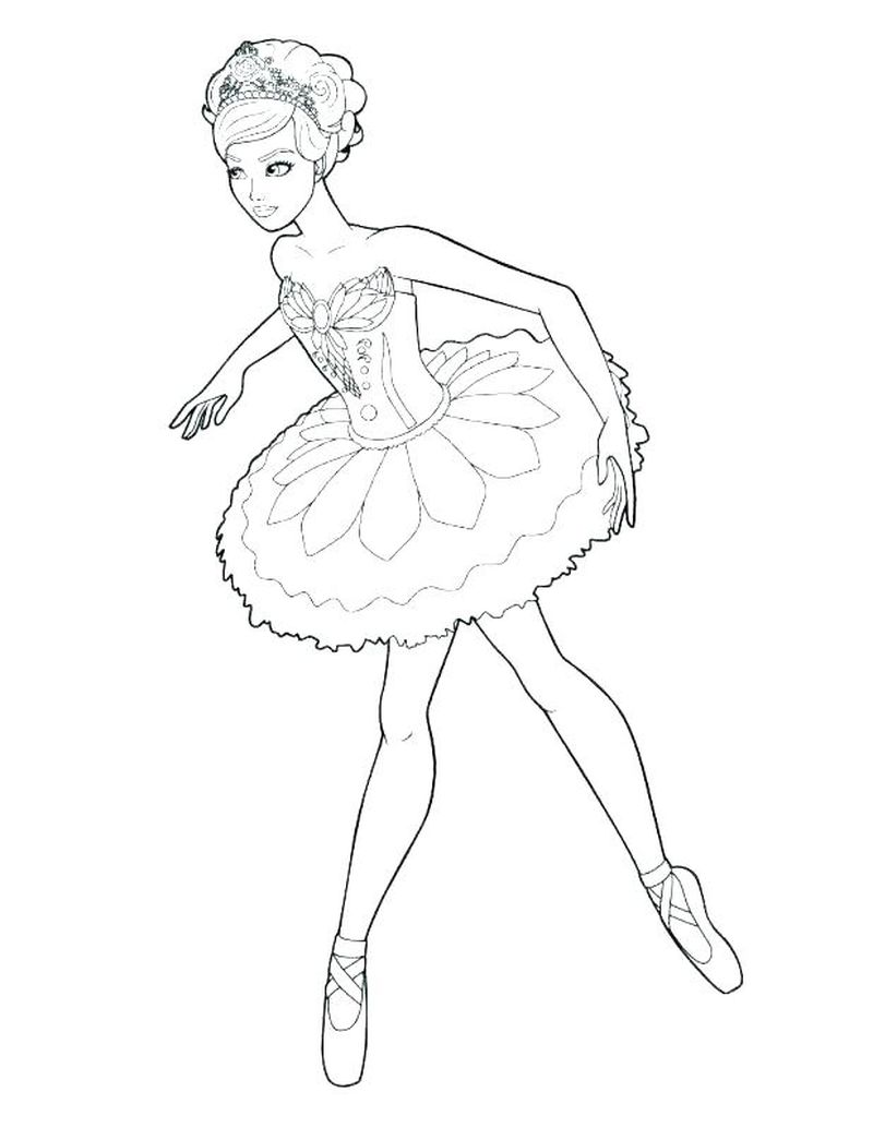 Ballerina Coloring Pages Leap