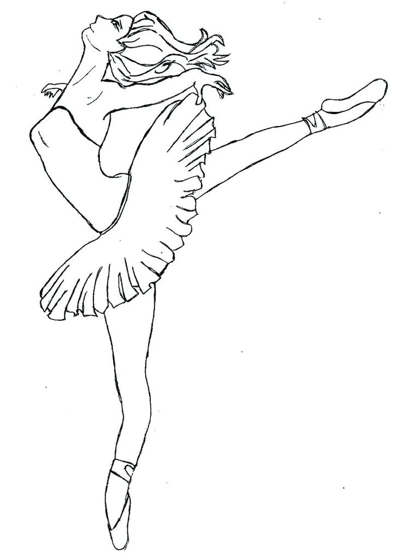 Ballerina Coloring Pages Outlines