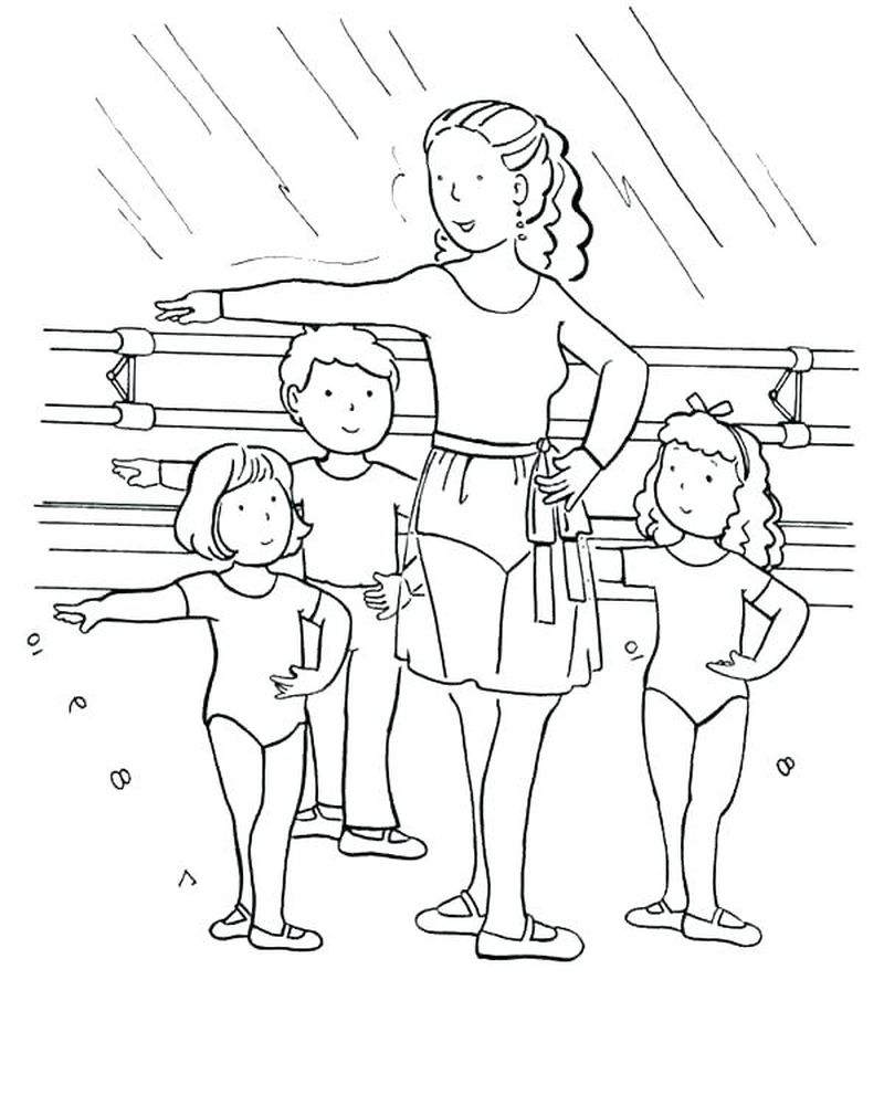Ballerina Coloring Pages To Print