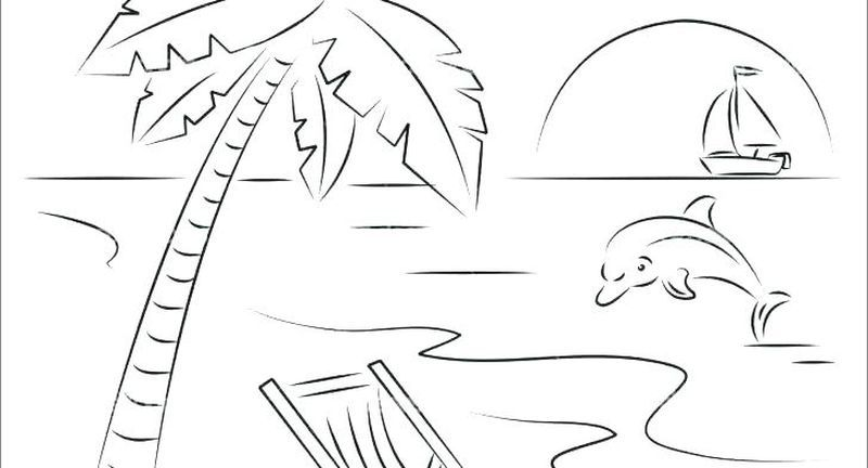 Barbie Beach Coloring Pages