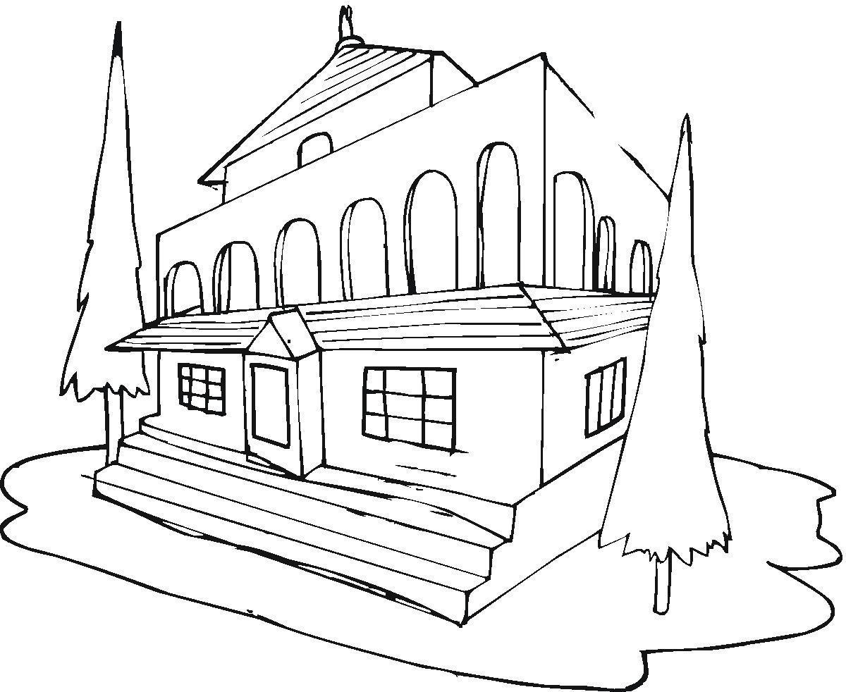 Barbie House Coloring Pages