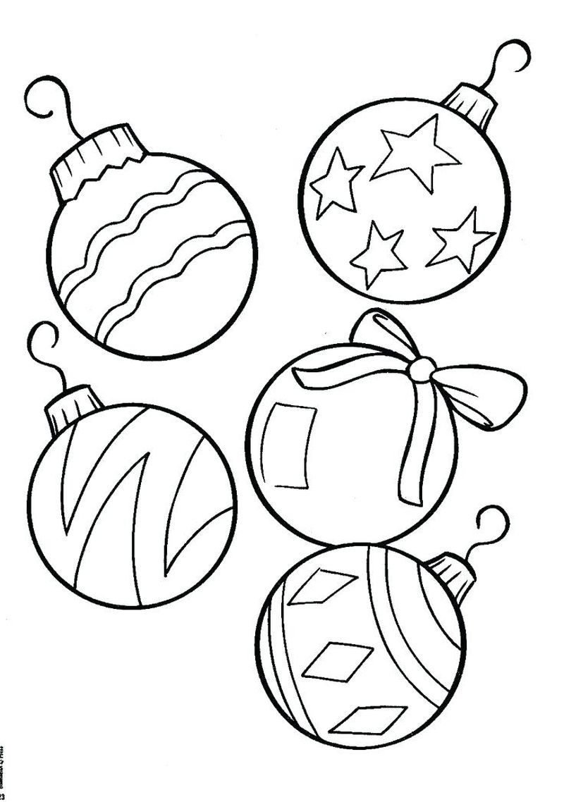 Basic Christmas Coloring Pages With Presents Under A Tree