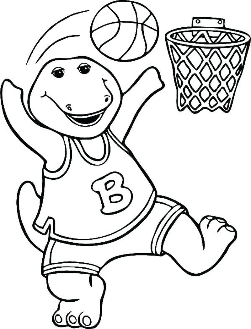 Basketball Coloring Pages Basic