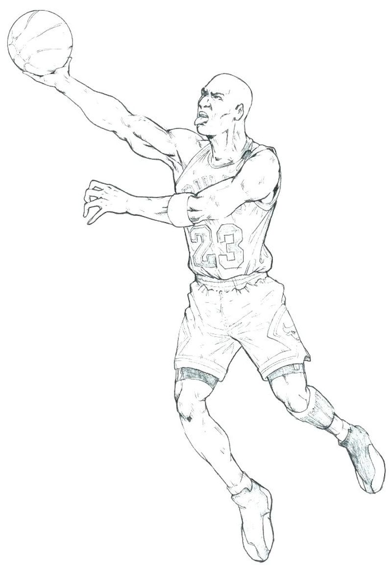 Basketball Coloring Pages Donavon Mitchel