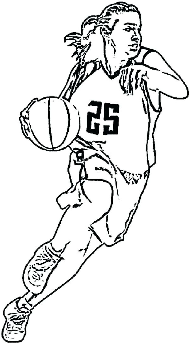 Basketball Trophy Coloring Pages