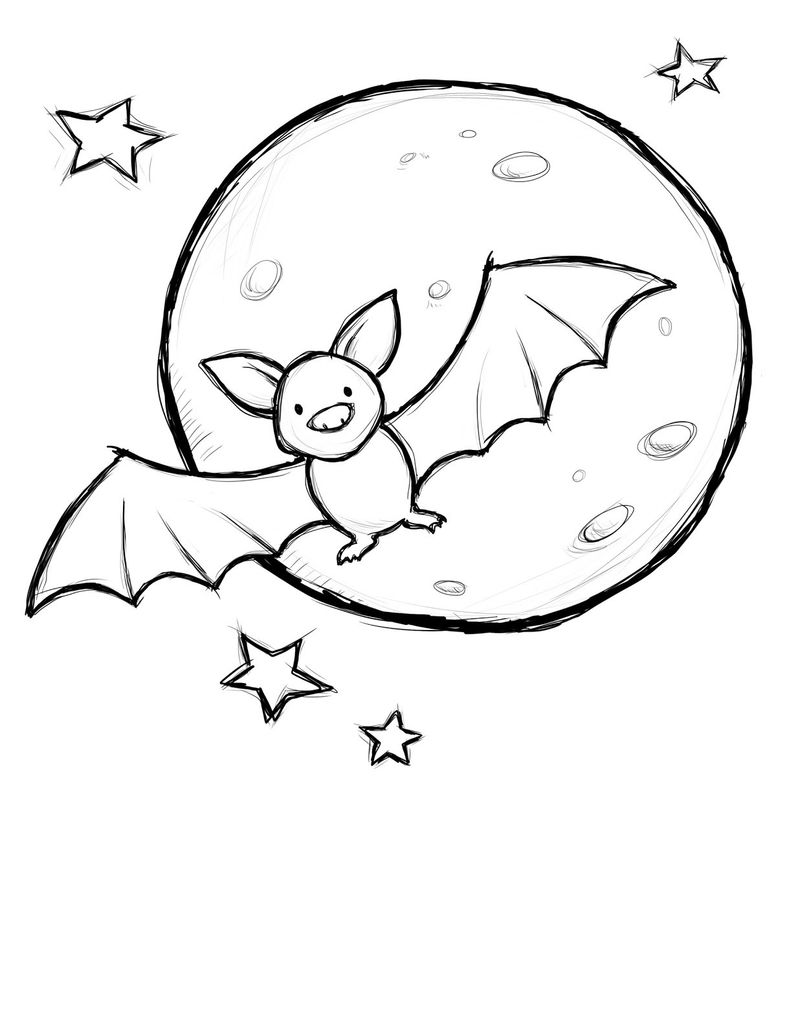 Bat And Ball Coloring Pages