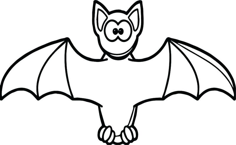 Bat Coloring Pages For Kids Printable
