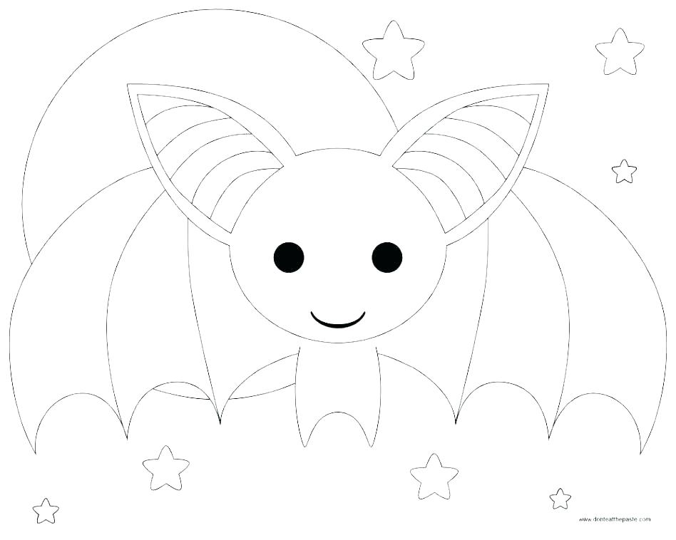 Bat Coloring Pages For Toddlers