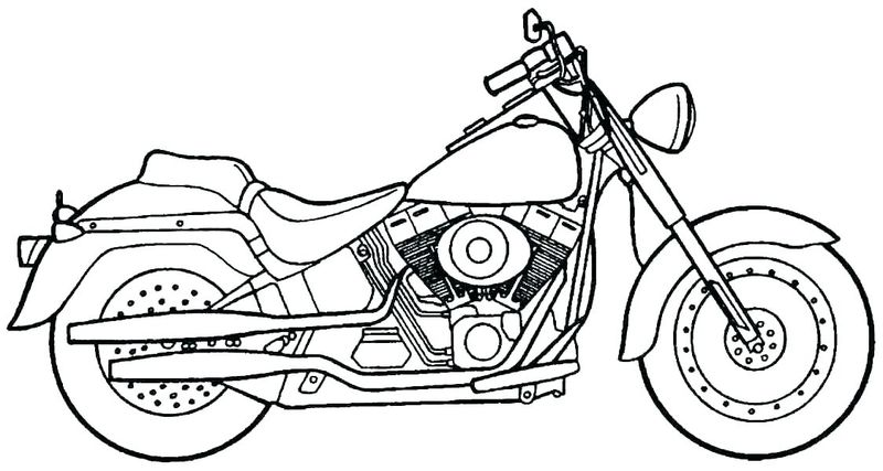 Batman Motorcycle Coloring Pages