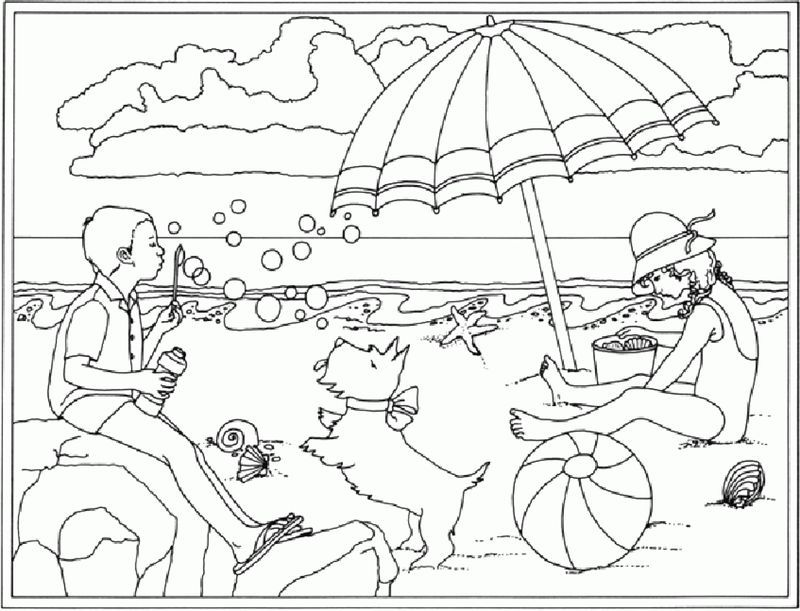 Beach Ball Coloring Pages Pdf