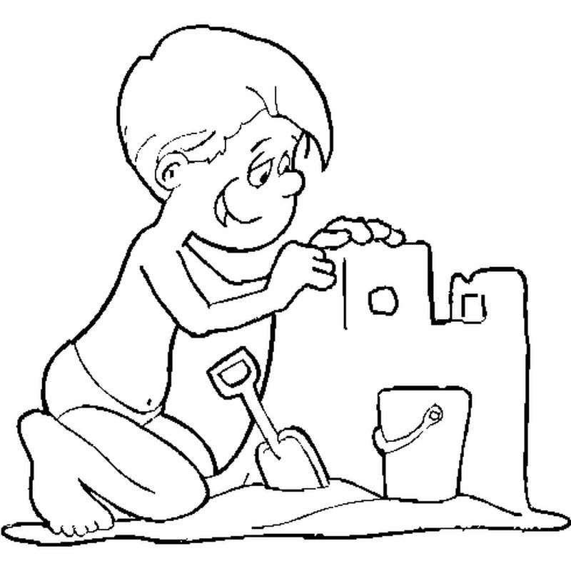 Beach Buckets Coloring Pages