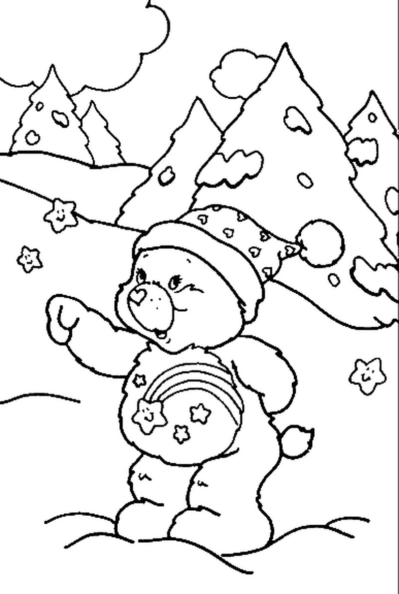 Bear Coloring Book Page