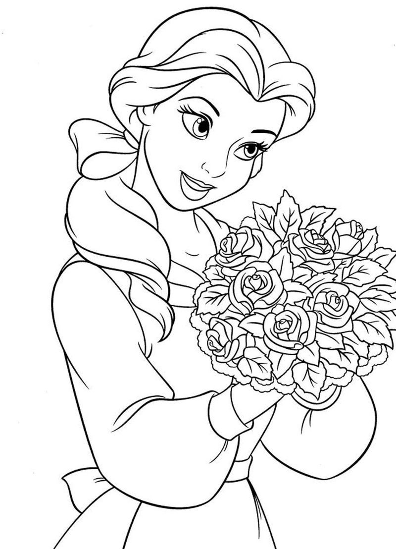 Belle And Prince Adam Coloring Pages