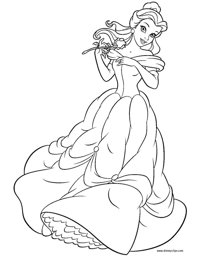 Belle Coloring Pages Disney