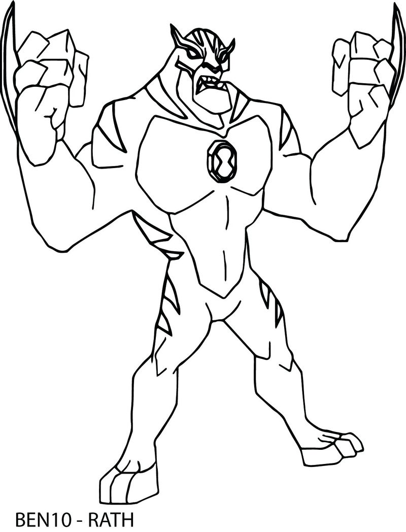 Ben 10 Accelerate Coloring Pages