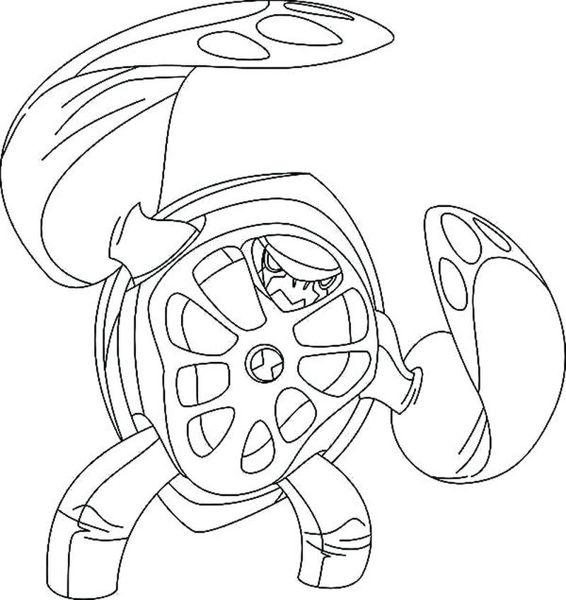 Ben 10 Albedo Coloring Pages