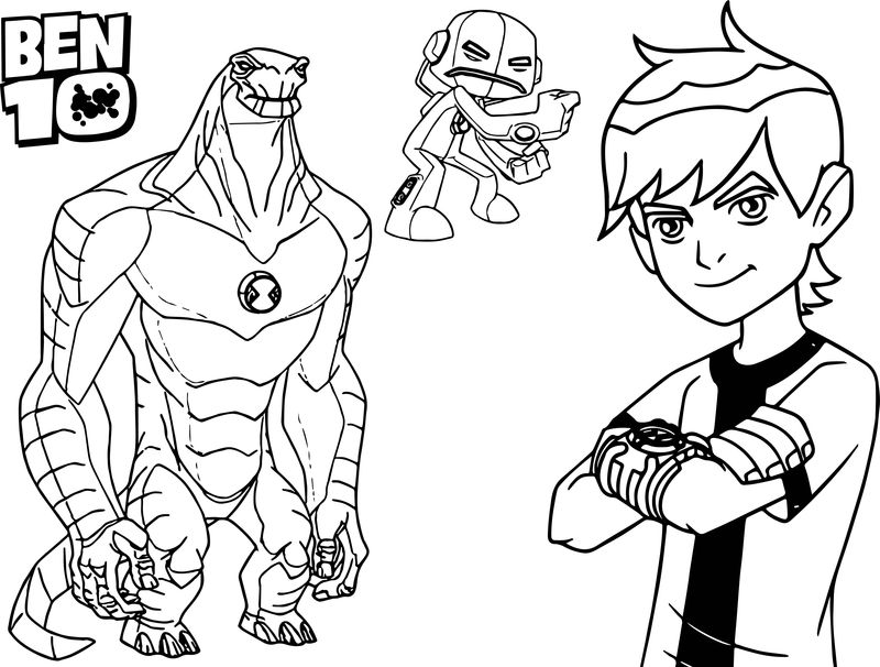 Ben 10 All Aliens Coloring Pages