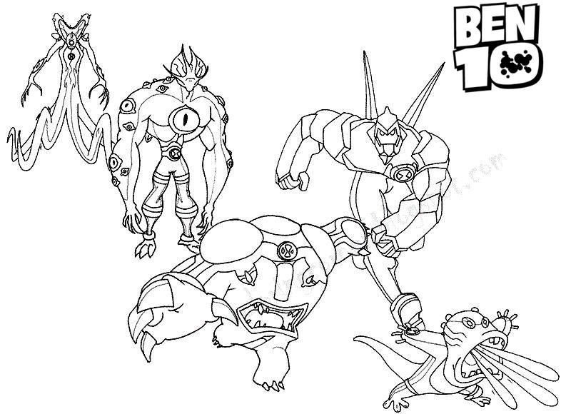 Ben 10 Big Chill Coloring Pages