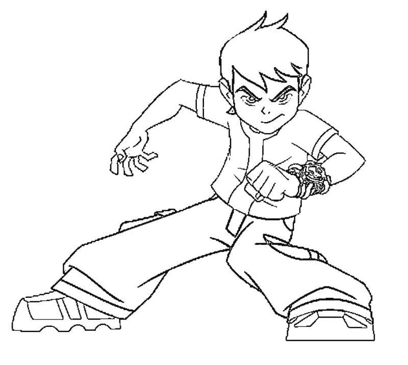 Ben 10 Cartoon Coloring Pages