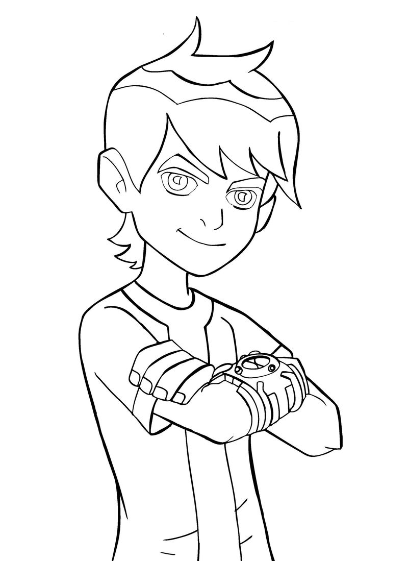 Ben 10 Coloring Pages Free Download