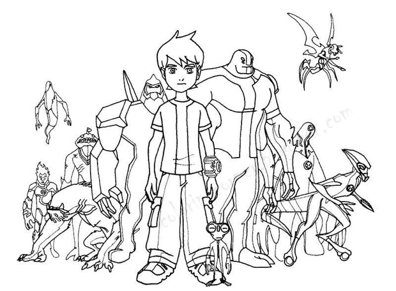 Ben 10 Coloring Pages Online