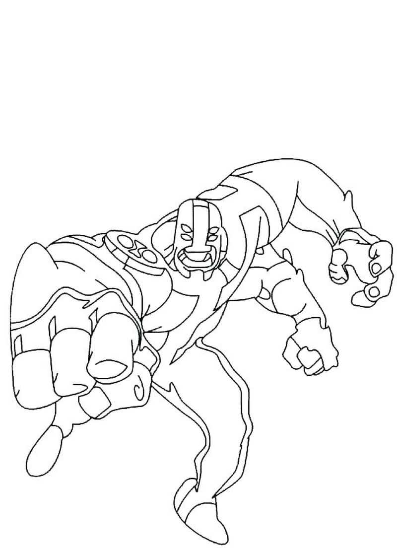 Ben 10 Coloring Pages To Print Free