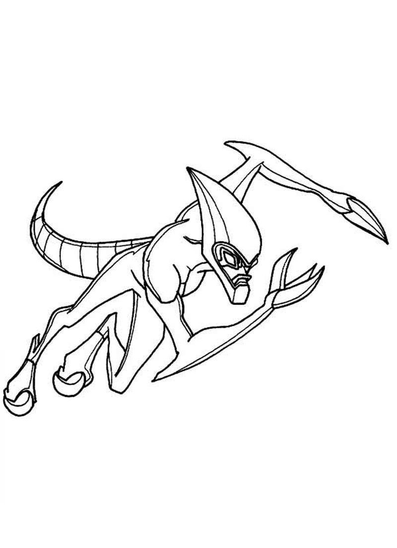 Ben 10 Coloring Pages Ultimate Alien