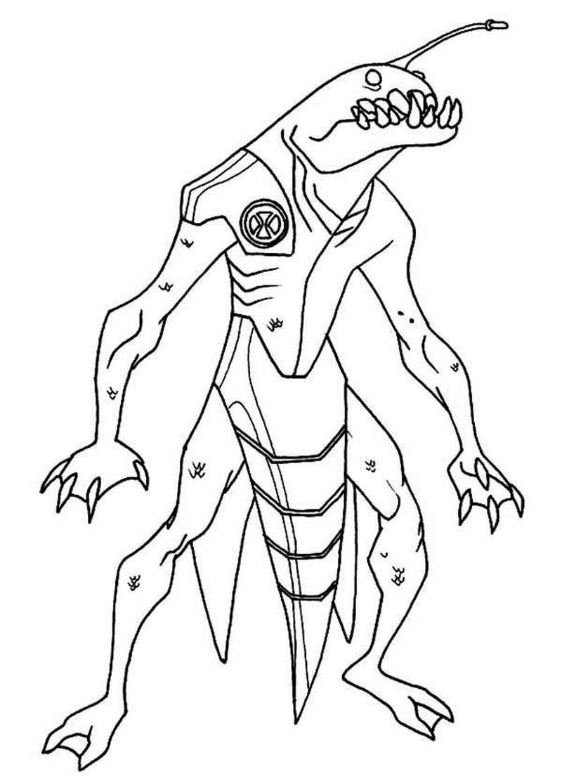 Ben 10 Colouring Pages Free Online
