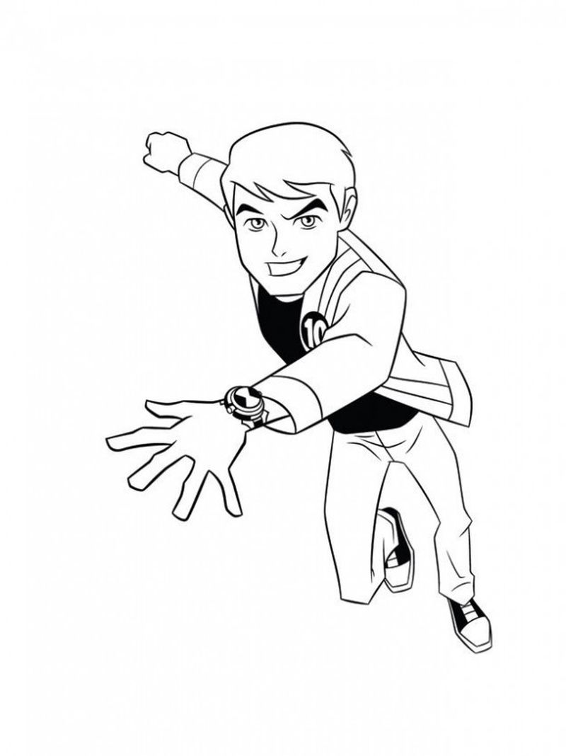 Ben 10 Colouring Pages Game