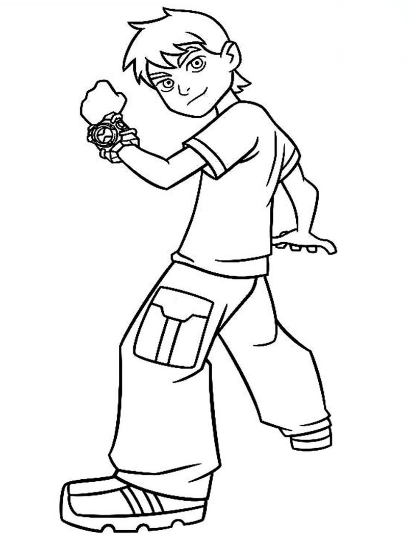 Ben 10 Eye Guy Coloring Pages