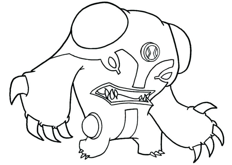 Ben 10 Terraspin Coloring Page