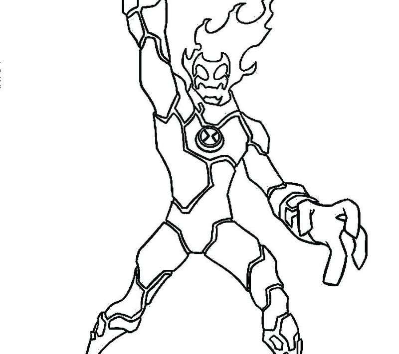 Ben 10 Ultimate Alien Coloring Pages To Print