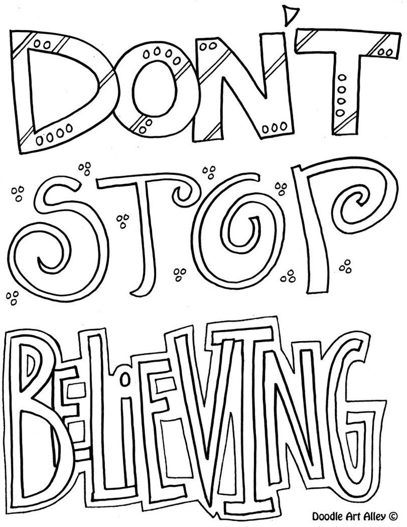 Best Quote Coloring Pages
