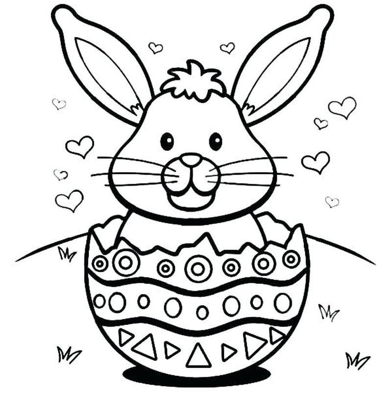 Big Easter Bunny Coloring Page