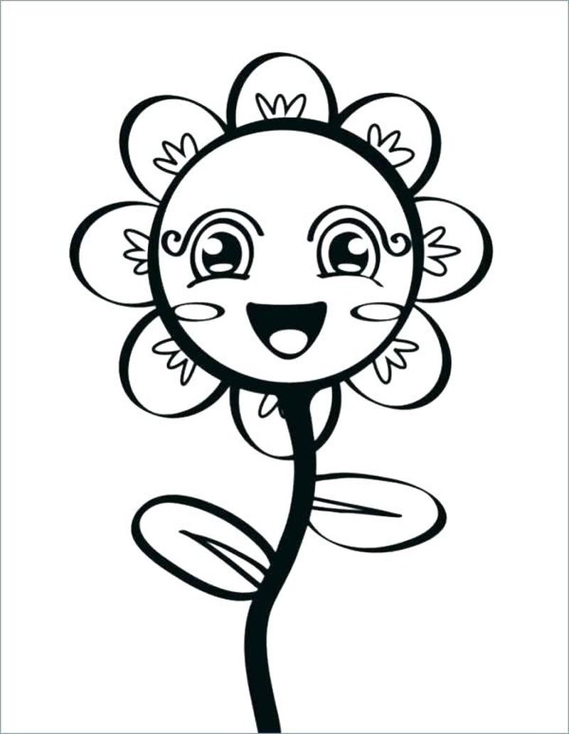 Big Flowers Coloring Pages