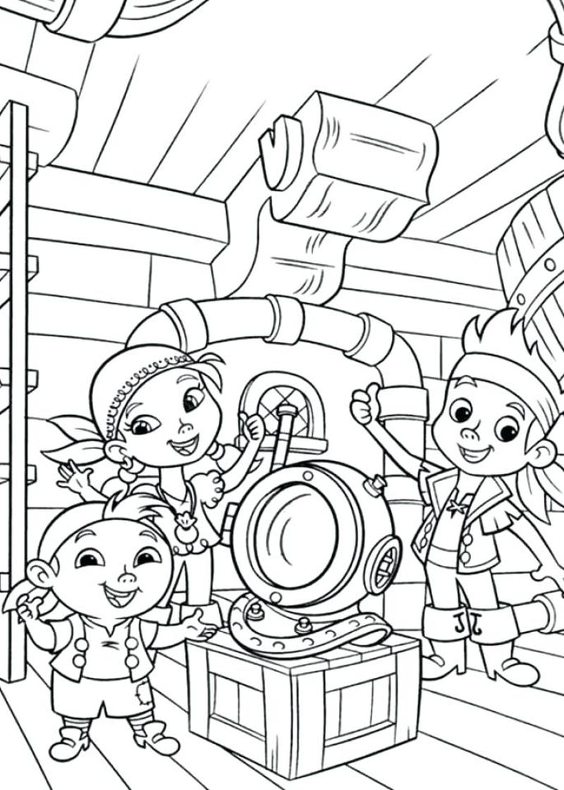 Big Pirate Ship Coloring Pages