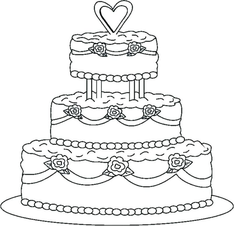 Birthday Cake Age 6 Coloring Page