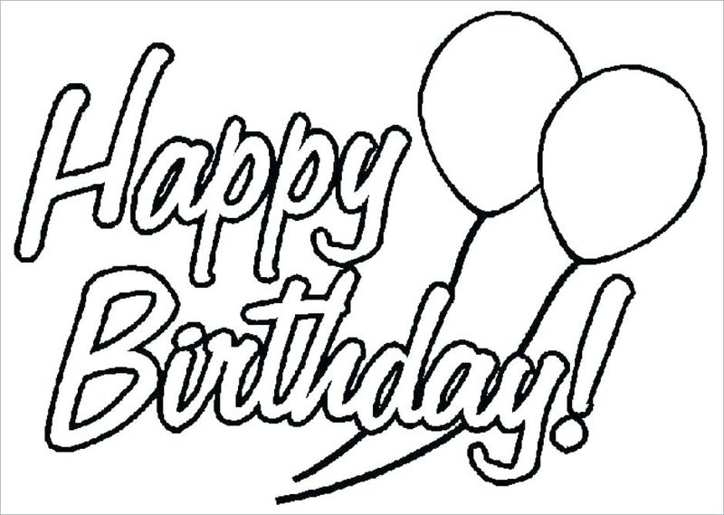 Birthday Cake And Candles Coloring Page 1