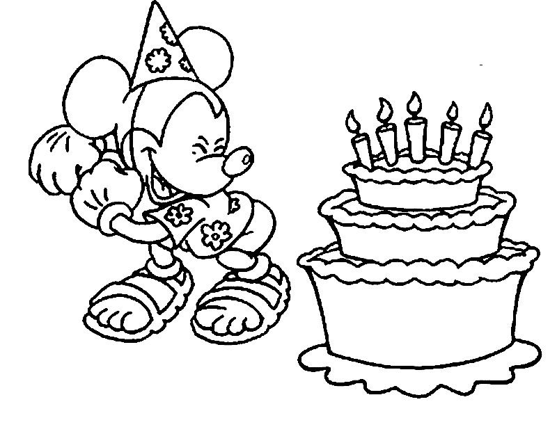 Birthday Cake Candles Coloring Page