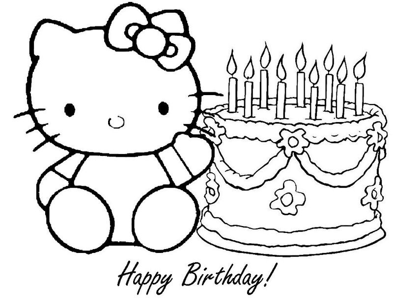 Birthday Cake Slice Coloring Page