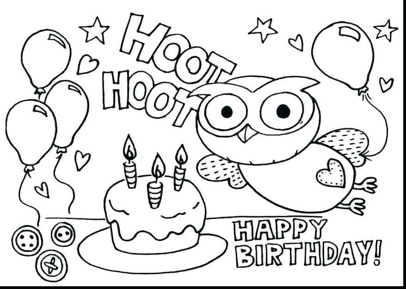 Birthday Card Template Coloring Page