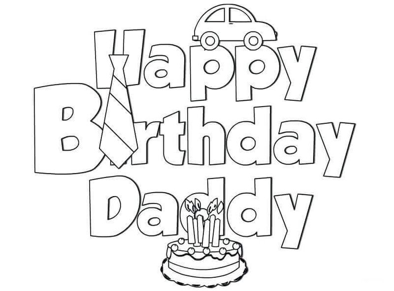 Birthday Coloring Page Free