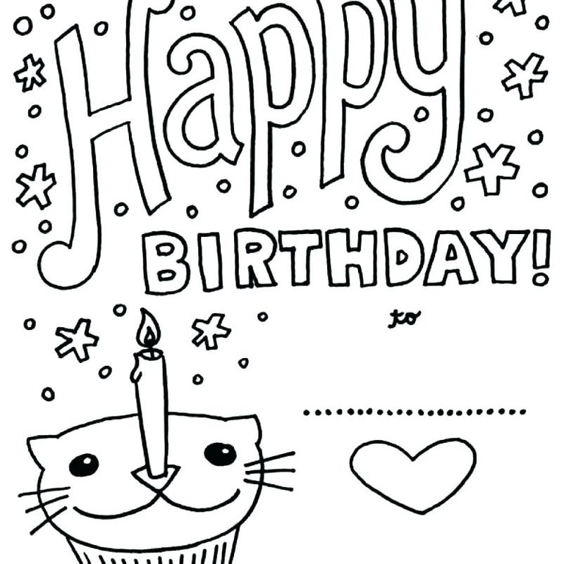 Birthday Coloring Pages For 10 Year Olds