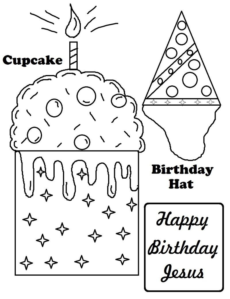 Birthday Coloring Pages For 2 Year Olds