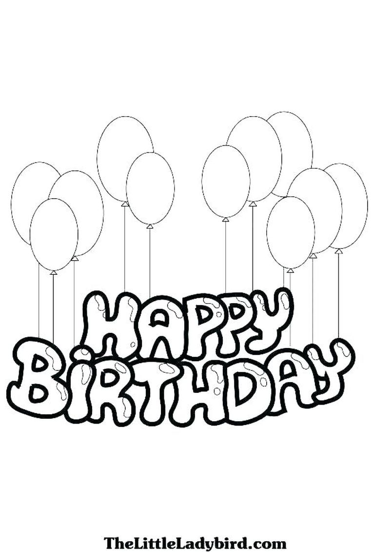 Birthday Coloring Pages For 8 Year Old