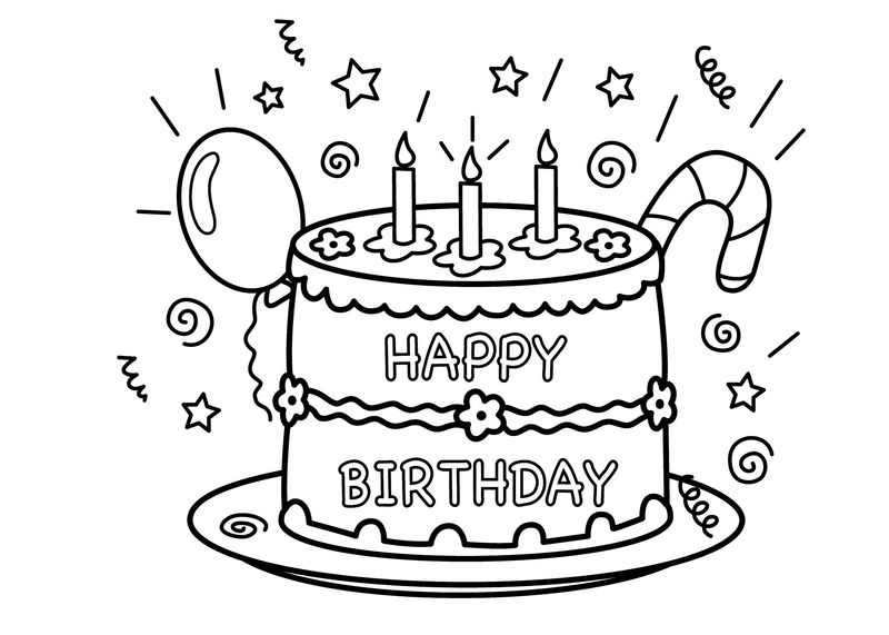 Birthday Coloring Pages For Aunt