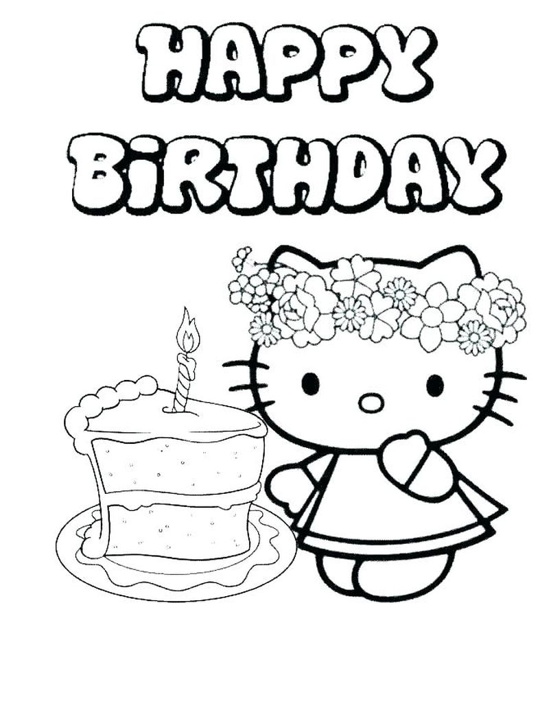 Birthday Coloring Pages For Dad